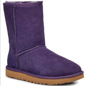 UGG Classic Short Suede Boots Purple - W size 8